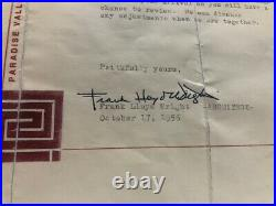 Frank Lloyd Wright Letter Signed To Don Duncan Oct 17, 1956 (cmp035838)