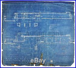 Frank Lloyd Wright Lloyd Lewis House Original Blueprint, 1939