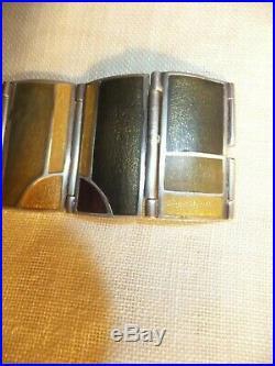 Frank Lloyd Wright Lori McLean Bracelet Jewelry Enamel Sterling Silver MOMA 2000