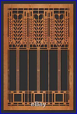 Frank Lloyd Wright MARTIN Triple Tree Window Design WALL Element 35.5h CHOICE