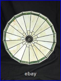 Frank Lloyd Wright MCM Arts & Crafts Style Panel leaded slag glass LAMP SHADE