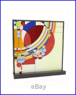 Frank Lloyd Wright March Balloons Stained Glass 10 x 10