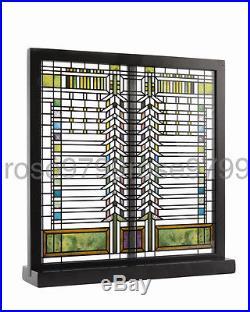 Frank Lloyd Wright Martin Casement Window Stained Art Glass Panel