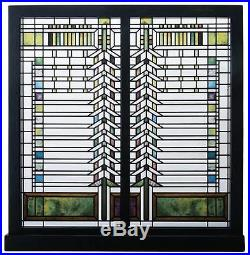 Frank Lloyd Wright Martin House Casement Window Stained Art Glass Panel Display
