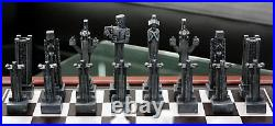 Frank Lloyd Wright Midway Gardens Sprites Resin Chess Pieces & Wooden Board Set