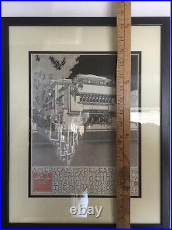 Frank Lloyd Wright, Model E3 Lithoprint, Museum Of Modern Art, Moma, 1994 RARE