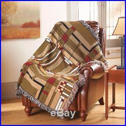 Frank Lloyd Wright Oak Park Skylight 100% Cotton Throw Blanket 49 x 69