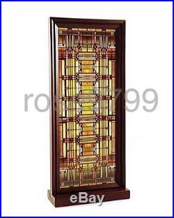 Frank Lloyd Wright Oak Park Skylight Stained Glass Wood Framed