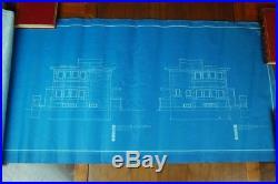 Frank Lloyd Wright Original Blue Prints 1906 Harry Brown House