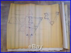 Frank lloyd wright original blueprintshex houseinclude blueprint for frank lloyd wright original blueprintshex houseinclude blueprint for furniture malvernweather Choice Image
