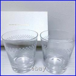 Frank Lloyd Wright Original Imperial Hotel Rock Glass 2 set From Japan Unused