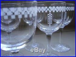 Frank Lloyd Wright Original The Imperial Hotel Wine Glass circa 1940 60s