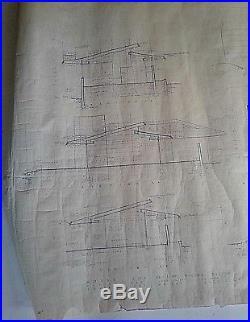 Frank Lloyd Wright Original Working Blueprint Of The Wilson Shelton House N Y N5