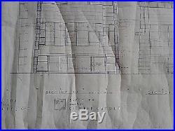 Frank Lloyd Wright Original Working Blueprint Of The Wilson Shelton House N Y N8