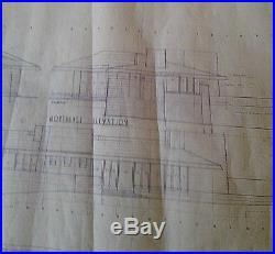 Frank Lloyd Wright Original Working Blueprint Of The Wilson Shelton House N York