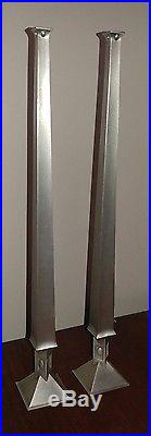 Frank Lloyd Wright Pair of Tall Geometric Weed Holder Vase Historic Arts Casting