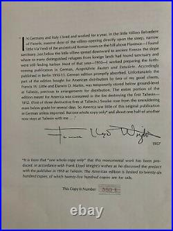 Frank Lloyd Wright Portfolio Issued 1963