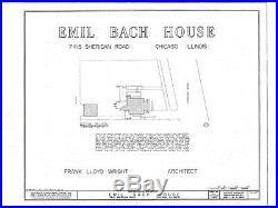 Frank Lloyd Wright Prairie Home, brick, wood & stucco