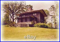 Frank Lloyd Wright Prairie House plans, architectural drawings, wood shingle