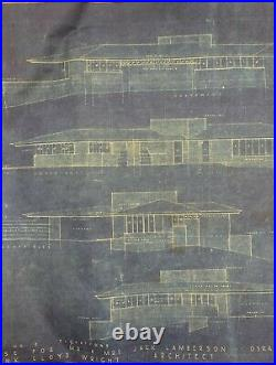 Frank Lloyd Wright. RARE. Architectural Vintage Colored Print. 1951.42 x 27.5 inch