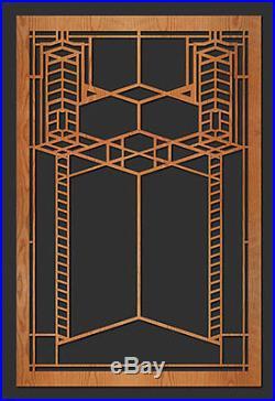 Frank Lloyd Wright ROBIE Art Glass Window Design WALL Element 35.5h CHOICE