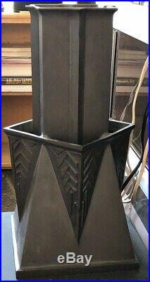 Frank Lloyd Wright Reproduction Large Bronze Vase