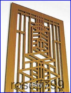 Frank Lloyd Wright Robie House 1 Wood Art Element Wall Panel Cherry NIB