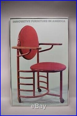 Frank Lloyd Wright Secretary's Armchair Poster INNOVATIVE FURNITURE IN AMERICA