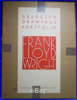 Frank Lloyd Wright Selected Drawings Portfolio, 1977 Vol 1, Orig Box #346/500
