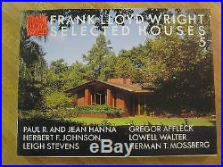 Frank Lloyd Wright/Selected Houses 1, 5, 6/3 vol. /pb/VG+/Architecture