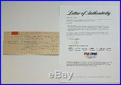 Frank Lloyd Wright Signed Check From 1954 With Coa From Psa