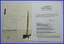 Frank Lloyd Wright Signed Letter To Benjamin Adelman Dated 11-5-1956 W Coa