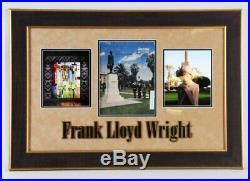 Frank Lloyd Wright Signed Magazine Display COA JSA