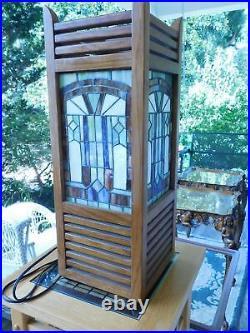 Frank Lloyd Wright Style Mission Oak Table With Shelf 15 W x 15 L x 36
