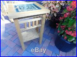 Frank Lloyd Wright Style Quoizel Mission Oak Table 15 W x 15 L x 24