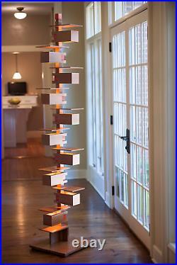 Frank Lloyd Wright Taliesin 2 Floor Lamp Cherry Wood