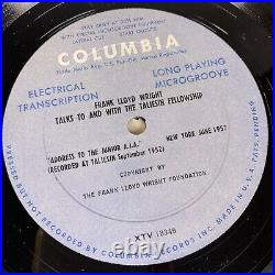 Frank Lloyd Wright Talks To And With The Taliesin Fellowship, Three LP Set, RARE
