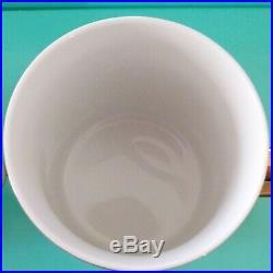 Frank Lloyd Wright Tiffany & Co. Gold Imperial Mug Cup 2 Set Espresso Cappuccino
