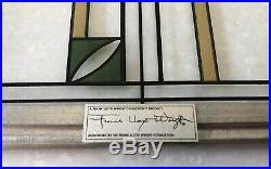 Frank Lloyd Wright Waterlilies Stained Glass Art Panel Certified Foundation Tag