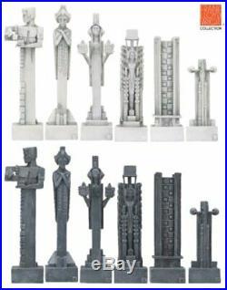 Frank Lloyd Wright White Midway Gardens Design Chess Set Piece