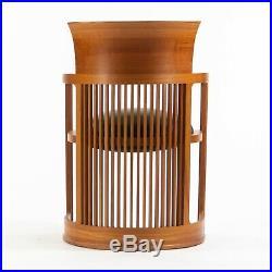 Frank Lloyd Wright for Cassina 606 Barrel Taliesin Dining Armchair Cherry Wood