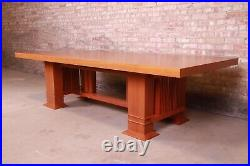 Frank Lloyd Wright for Cassina Arts & Crafts Allen Dining Table, 1986