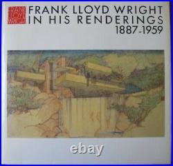 Frank Lloyd Wright in his renderings 1887-1959 hardcover w dustjacket