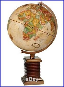 Frank Lloyd Wright inspired Glencoe 12 Inch Desktop World Globe By Replogle Glob