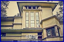 Frank Lloyd-wright Designed Oversized William E. Fricke House Leaded Art Glass W