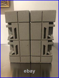 Frank lloyd wright bookends cast textile block design(1 pair)