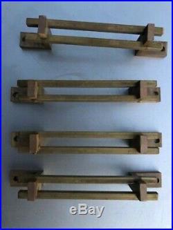 Frank lloyd wright brass handles pulls modern qty 8 mcm rare cabinet or drawer