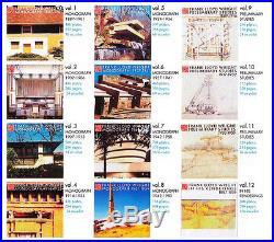 GA Frank Lloyd Wright12 vol set. Beautiful photos/ illus. Rare architecture