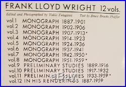 GA Frank Lloyd Wright Large format 12 vol set. Beautiful photos/ illus. Rare