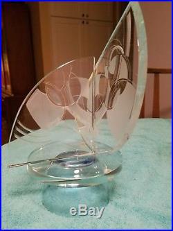 Glass Sculpture Susan Jacob Lockhart Frank Lloyd Wright Foundation Signed